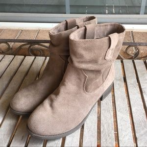 American Eagle Taupe Slouch Ankle Boots